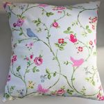 "Cushion Cover in Clarke and Clarke Bird Trail Chintz 14"" 16"" 18"" 20"""